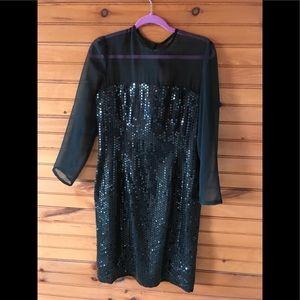 Black sequin dressy dress- size 10